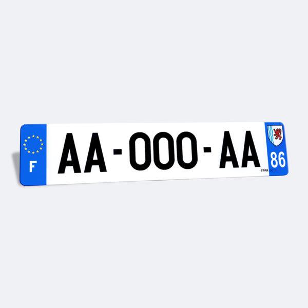 Plaque immatriculation voiture