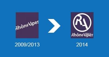 Le nouveau logo de la région Rhône-Alpes