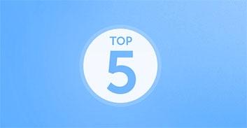 Top 5 des plaques d'immatriculation en 2014