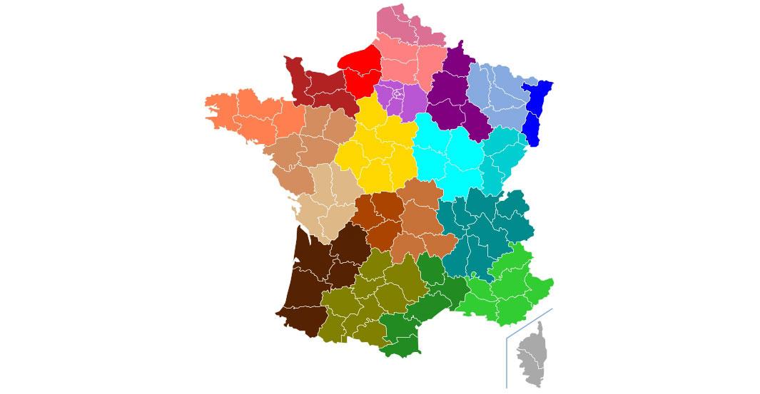 Les régions et leurs départements : le principe SIV