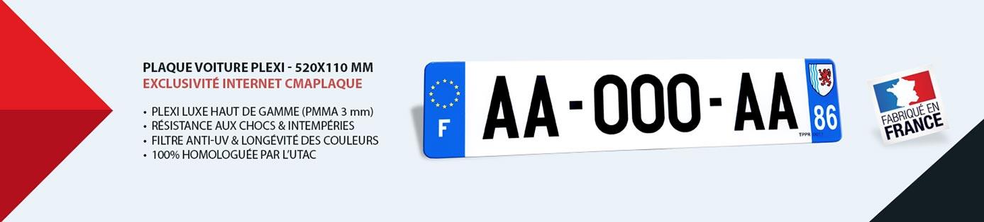 plaque d'immatriculation auto