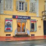 La devanture de notre magasin, rue Gambetta à Mâcon